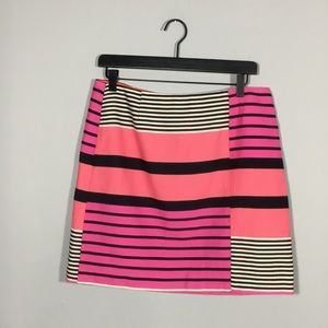Loft Striped Skirt. Size 10P